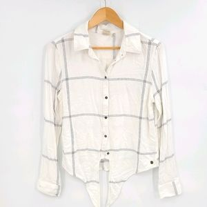 Roxy Tie Front Casual Shirt